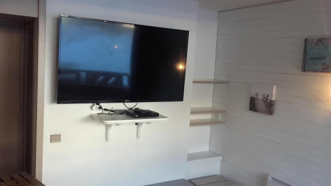 Аренда на лыжном курорте Делящаяся квартира студия для 4 чел. (40) - Résidence le Carroley A - La Plagne - Телевизор