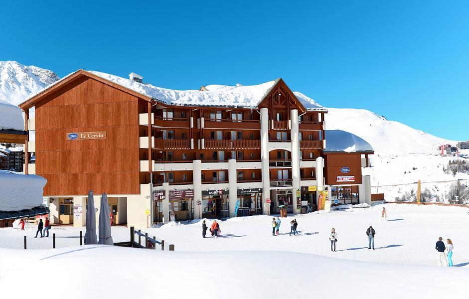 Location au ski Résidence le Cervin - La Plagne - Extérieur hiver
