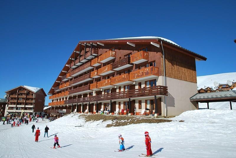 Location au ski Appartement 3 pièces 6 personnes (202) - Résidence le Montsoleil - La Plagne - Extérieur hiver
