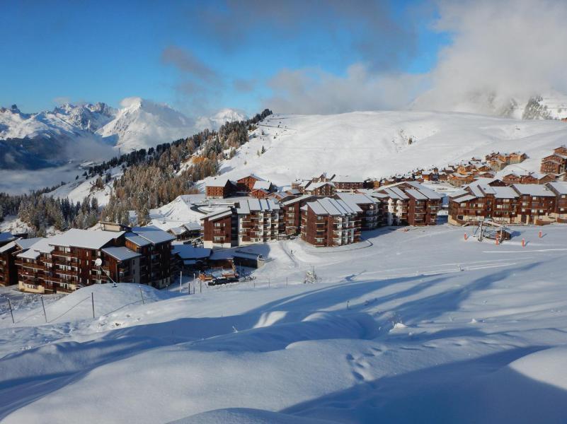 Location au ski Studio 3 personnes (255) - Résidence les Hameaux I - La Plagne - Extérieur hiver