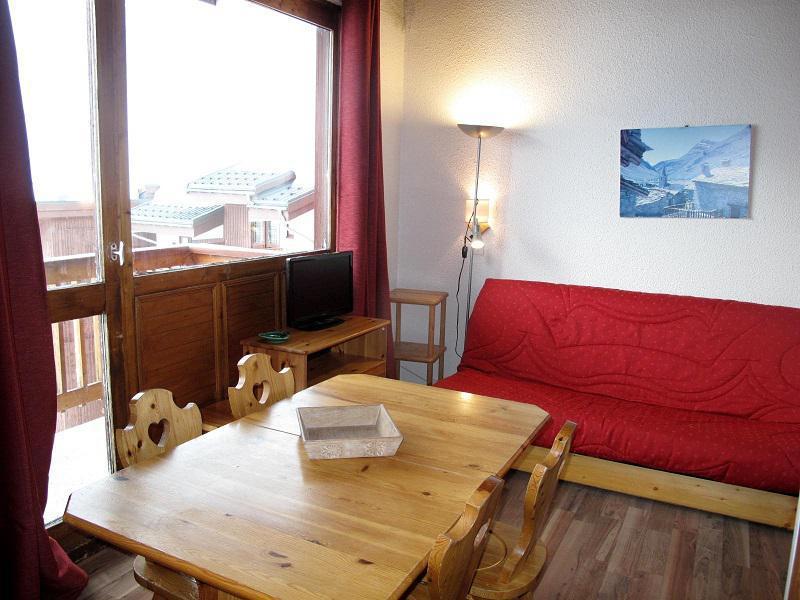 Ski verhuur Appartement 3 kamers 6 personen (438) - Résidence les Hameaux I - La Plagne - Woonkamer