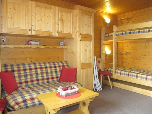 Ski verhuur Studio 3 personen (254) - Résidence les Hameaux I - La Plagne - Woonkamer