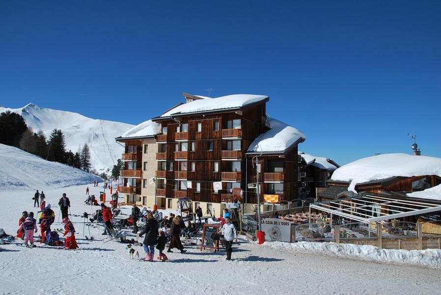 Vacances en montagne Studio 3 personnes (214) - Résidence les Hameaux II - La Plagne - Extérieur hiver