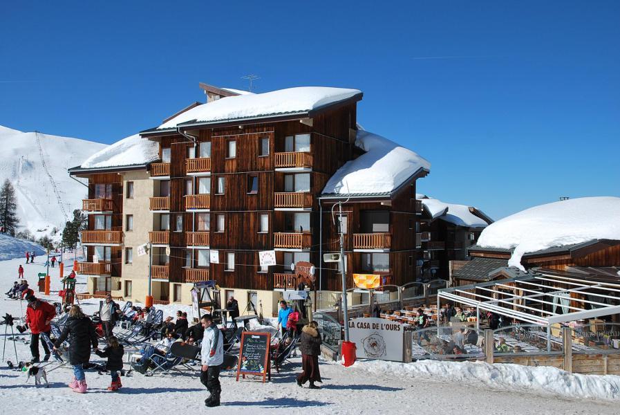 Vacances en montagne Résidence les Hameaux II - La Plagne - Extérieur hiver