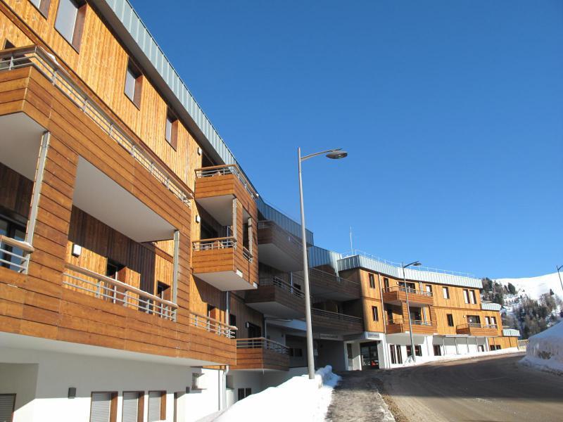 Location au ski Résidence Lodges 1970 - La Plagne - Extérieur hiver