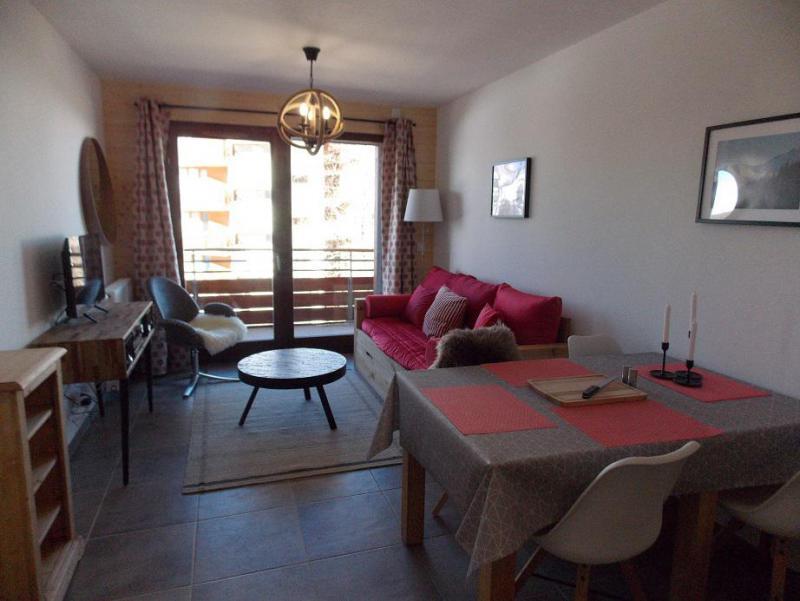 Location au ski Appartement 2 pièces 4 personnes (A401) - Résidence Lodges 1970 - La Plagne - Séjour