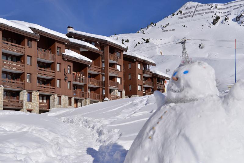 Location au ski Résidence Pierre de Soleil - La Plagne - Extérieur hiver