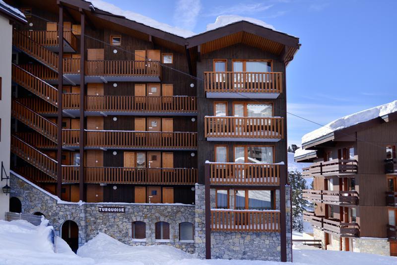 Location au ski Résidence Turquoise - La Plagne - Extérieur hiver