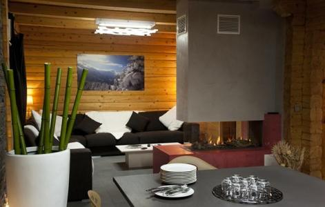 Rent in ski resort Chalet Mont Soleil - La Plagne - Bed-settee