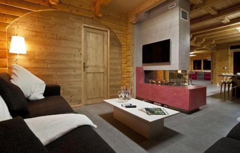 Rent in ski resort Chalet Mont Soleil - La Plagne - Fireplace