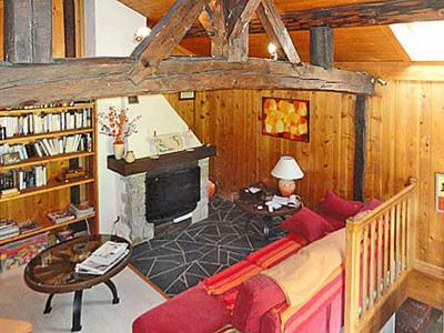 Rent in ski resort Chalet Peudral - La Plagne - Living room