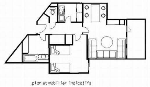 Аренда на лыжном курорте Апартаменты 2 комнат 5 чел. (109) - La Résidence les Glaciers - La Plagne