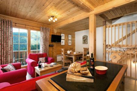 Аренда на лыжном курорте Les Chalets de Crête Côte Village - La Plagne - Салон