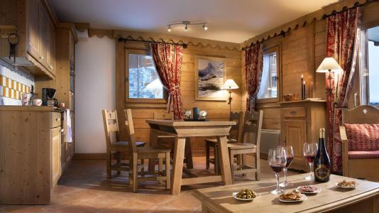 Location au ski Les Granges du Soleil - La Plagne - Coin repas