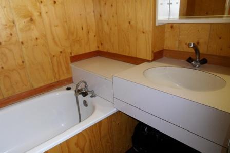 Location au ski Studio 4 personnes (05) - Residence 3000 - La Plagne - Salle de bains