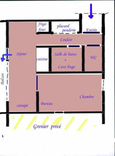 Location au ski Appartement 2 pièces 4 personnes (1410) - Residence Croix Du Sud - La Plagne