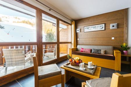 Location au ski Résidence Lagrange les Chalets d'Edelweiss - La Plagne - Canapé