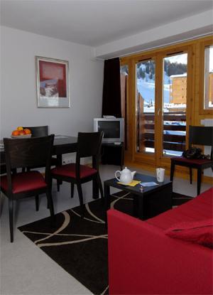 Location au ski Appartement 2 pièces cabine 7-8 personnes - Residence Le Pelvoux - La Plagne - Séjour