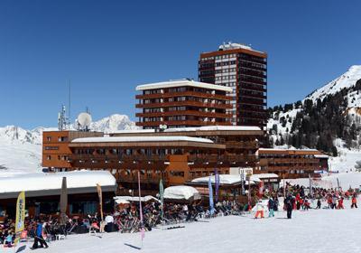 Location au ski Residence Le Pelvoux - La Plagne - Extérieur hiver