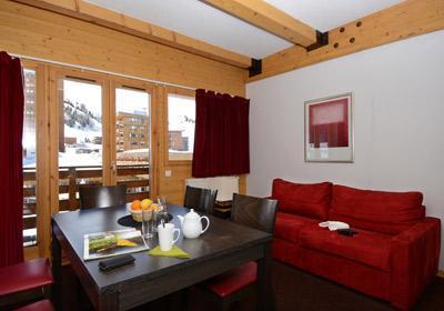 Location au ski Residence Le Pelvoux - La Plagne - Séjour