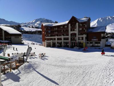 Location au ski Appartement 2 pièces 5 personnes (119) - Résidence les Drus - La Plagne - Extérieur hiver