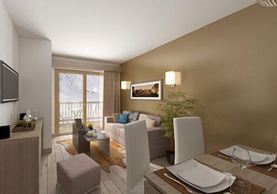 Location 2 personnes Studio 2 personnes - Residence Prestige Front De Neige