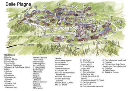 Аренда на лыжном курорте Résidence Turquoise - La Plagne - план