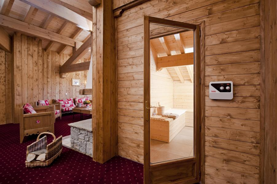 Alquiler al esquí Apartamento 7 piezas 12-14 personas - Résidence Chalet le Refuge la Rosière - La Rosière - Sauna