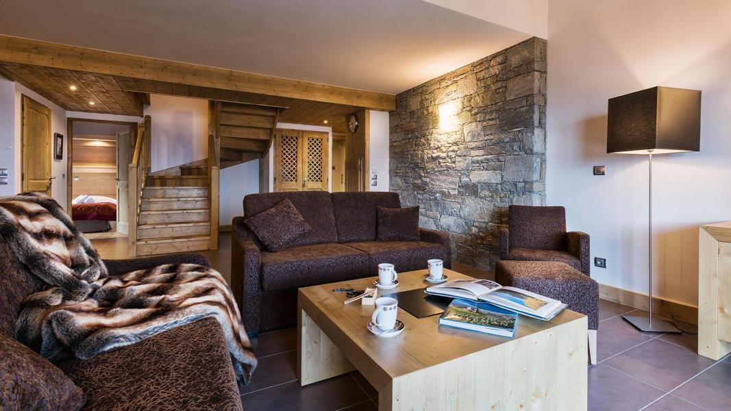 Location au ski Résidence Chalet les Marmottons - La Rosière - Canapé