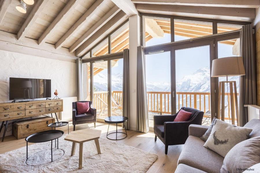 Location au ski Résidence le Hameau de Barthélémy - La Rosière - Coin séjour