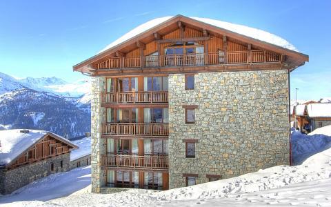 Location au ski Les Balcons de la Rosière - La Rosière - Extérieur hiver