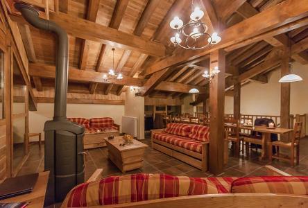 Rent in ski resort Les Balcons de la Rosière - La Rosière - Living room