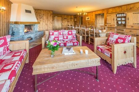 Rent in ski resort 6 room apartment 10-12 people - Résidence Chalet le Refuge la Rosière - La Rosière - Living room