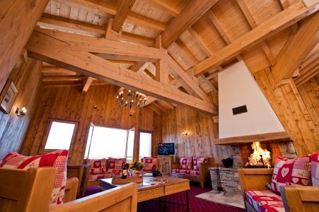 Rent in ski resort Résidence Chalet le Refuge la Rosière - La Rosière - Living room