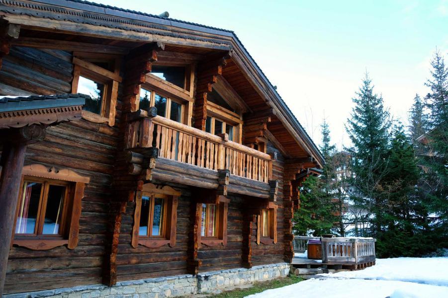 Ski verhuur Chalet Elliot Est - La Tania - Buiten winter