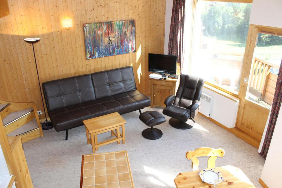 Аренда на лыжном курорте Апартаменты дуплекс 4 комнат 7 чел. (401) - Résidence l'Atrey - La Tania - Салон