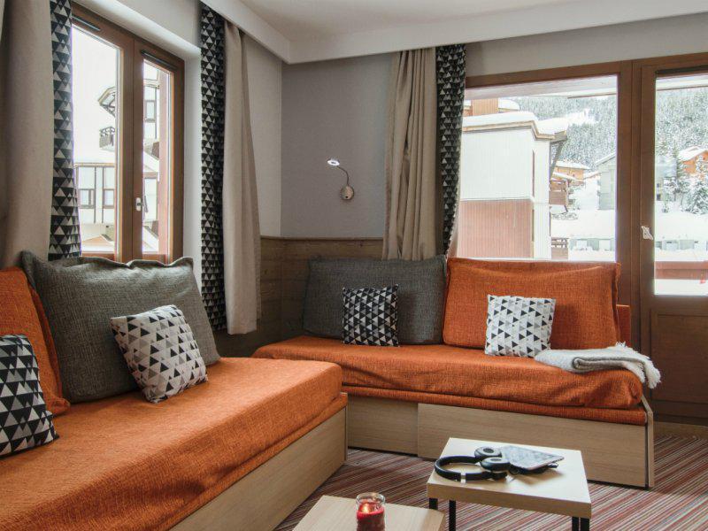 Аренда на лыжном курорте Апартаменты 2 комнат 4 чел. - Résidence Pierre et Vacances le Britania - La Tania