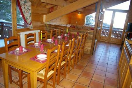 Location au ski Chalet 6 pièces 10 personnes (DFB) - Les Chalets De La Tania - La Tania - Coin repas