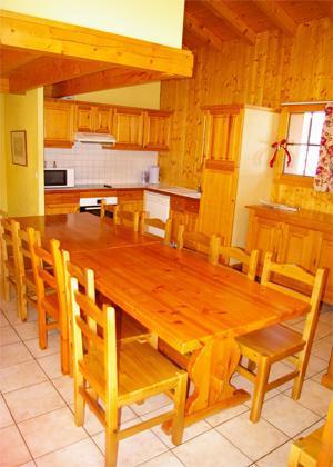 Location au ski Chalet 7 pièces 12-13 personnes (DGB) - Les Chalets De La Tania - La Tania - Coin repas