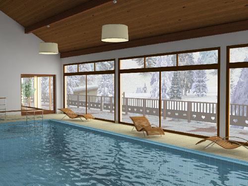 Location au ski Residence Les Chalets Des Cimes - La Toussuire - Piscine