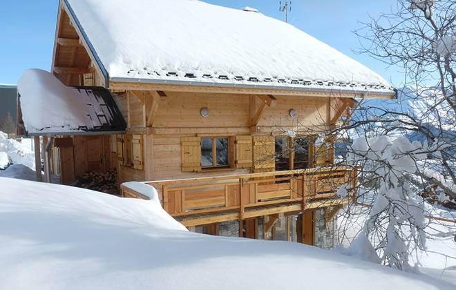 Rent in ski resort Chalet Jardin d'Hiver - La Toussuire - Winter outside