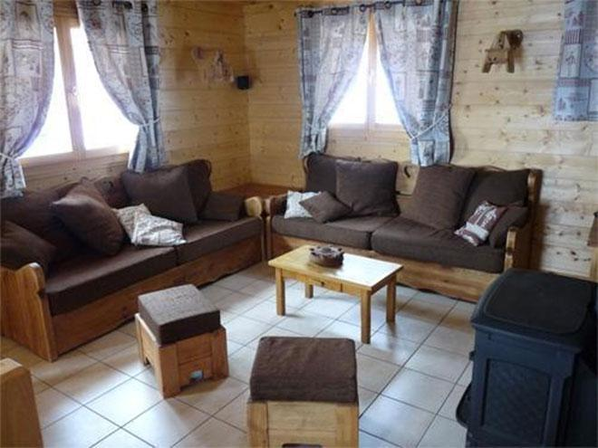 Rent in ski resort Chalet Jardin d'Hiver - La Toussuire - Living room