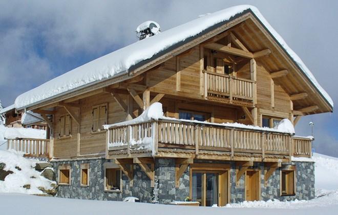 Rent in ski resort Chalet le Reflet des Aiguilles - La Toussuire - Winter outside