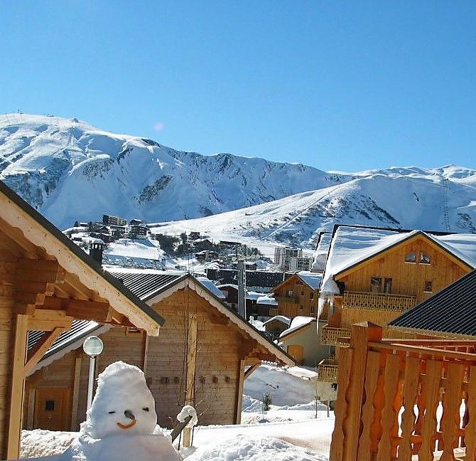 Location au ski Résidence Goélia les Chalets de la Toussuire - La Toussuire - Extérieur hiver