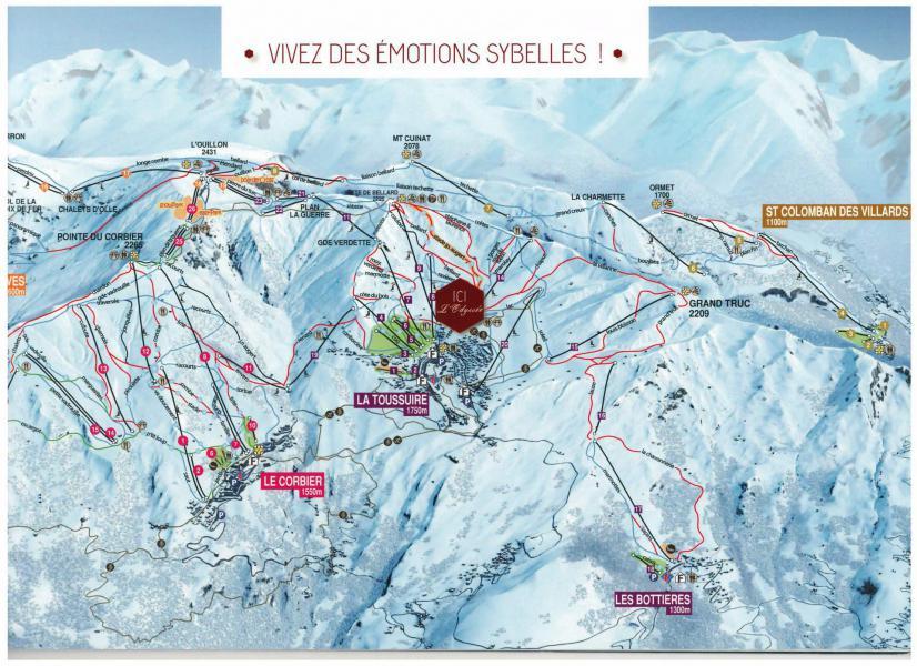 Location au ski Résidence l'Odyssée - La Toussuire - Plan