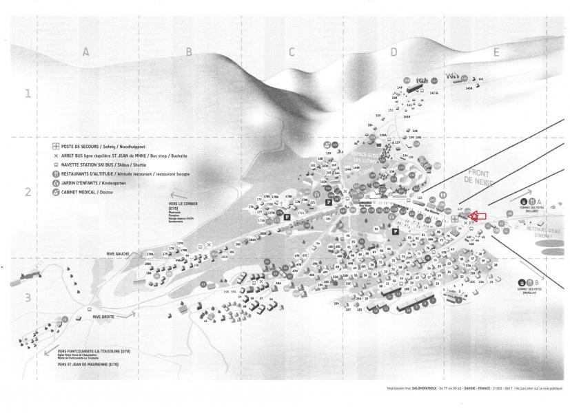 Location au ski Résidence l'Orée des Pistes - La Toussuire - Plan