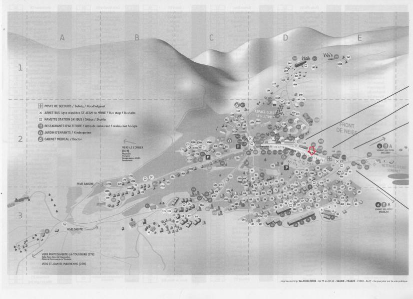 Location au ski Résidence l'Ouillon - La Toussuire - Plan