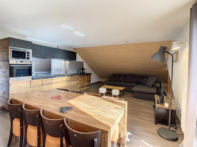 Аренда на лыжном курорте Апартаменты 3 комнат 6 чел. (201) - Résidence le Lys - La Toussuire - Салон