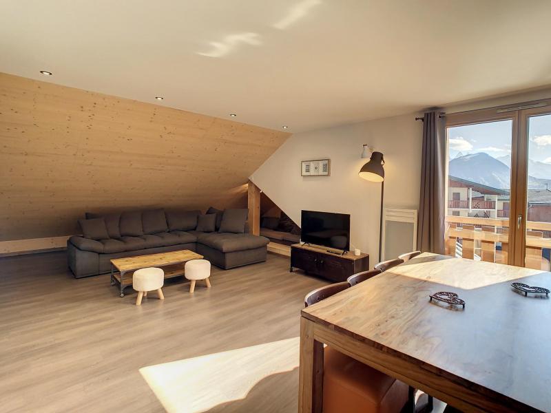Аренда на лыжном курорте Апартаменты 3 комнат 6 чел. (201) - Résidence le Lys - La Toussuire - Стол
