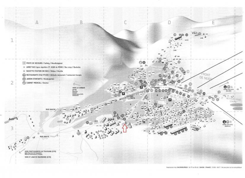 Location au ski Résidence le Lys - La Toussuire - Plan